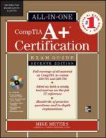 CompTIA A+ Certification All-in-One Exam Guide, (Exams 220-701 & 220-702)