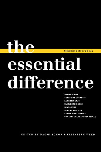 The Essential Difference (Books from differences) - Naomi Schor; Elizabeth Weed