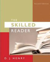 The Skilled Reader [With Myreadinglab] - Henry, D. J.