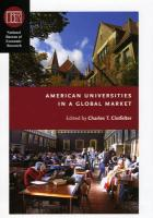 American Universities in a Global Market