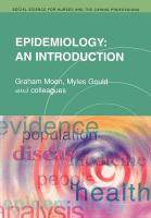 Epidemiology: An Introduction (Social Science for Nurses & the Caring Professions)