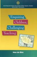 Enquiring Children: Challenging Teaching