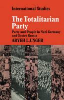 The Totalitarian Party: Party and People in Nazi Germany and Soviet Russia
