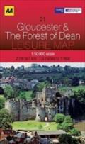 AA Leisure Map Gloucester & The Forest of Dean