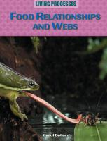 Food Relationships and Webs