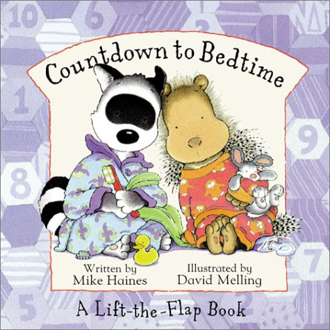 Countdown to Bedtime (A Lift-the-Flap Book) - Mike Haines