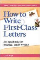 How to Write First-Class Letters