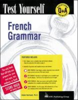 Test Yourself: French Grammar