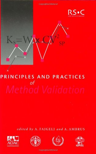 Principles and Practices of Method Validation: RSC (Special Publications) - A Fajgelj; A Ambrus