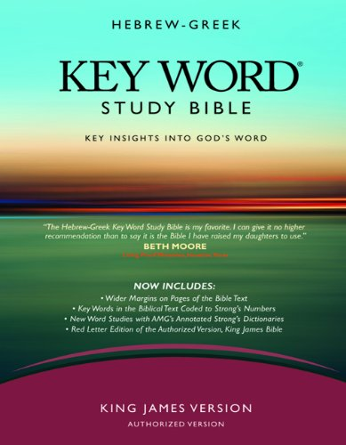 The Hebrew-Greek Key Word Study Bible: KJV Edition, Burgundy Genuine (Key Word Study Bibles) - Dr. Spiros Zodhiates; Dr. Warren Patrick Baker D.R.E.