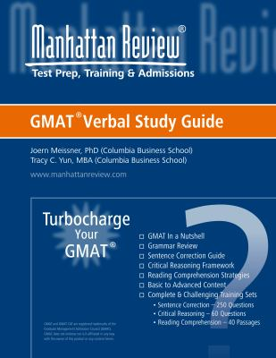 Manhattan Elite Prep Turbo Charge Your GMAT: Verbal Study Guide - Tracy C. Yun; Manhattan Elite Prep
