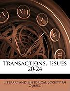Transactions, Issues 20-24 Transactions, Issues 20-24
