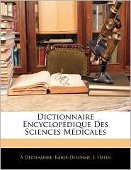 Dictionnaire Encyclopdique Des Sciences Mdicales