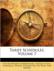 Tariff Schedules, Volume 7