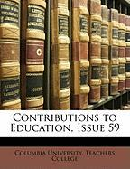Contributions to Education, Issue 59