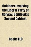 Cabinets Involving the Liberal Party of Norway: Bondevik's Second Cabinet, Bondevik's First Cabinet, Borten's Cabinet, Michelsen's Cabinet