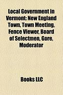 Local Government in Vermont: New England Town