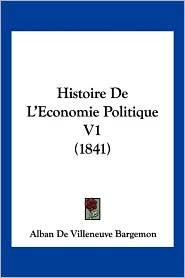 Histoire de L'Economie Politique V1 (1841)