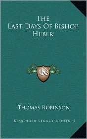 The Last Days of Bishop Heber