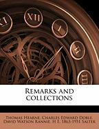 Remarks and Collections
