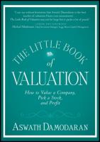 The Little Book of Valuation: How to Value a Company, Pick a Stock, and Profit