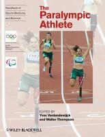 The Paralympic Athlete: Handbook of Sports Medicine and Science