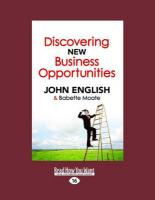 Discovering New Business Opportunities (Large Print 16pt) - English, John