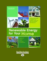 Renewable Energy for Your Home: Using Off-Grid Energy to Reduce Your Footprint, Lower Your Bills and Be More Self-Sufficient (Large Print 16pt) - Bridgewater, Alan