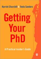Getting Your PhD: A Practical Insider's Guide