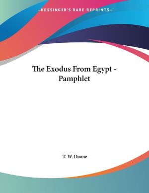 The Exodus from Egypt - Pamphlet