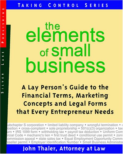 ELEMENTS OF SMALL BUSINESS (Taking Control) - First Last