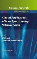 Clinical Applications of Mass Spectrometry: Methods and Protocols (Methods in Molecular Biology)