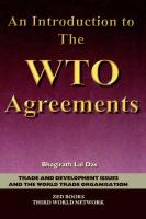 An Introduction to the Wto Agreements