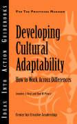 Developing Cultural Adaptability: How to Work Across Differences - Deal, Jennifer J.; Prince, Don W.