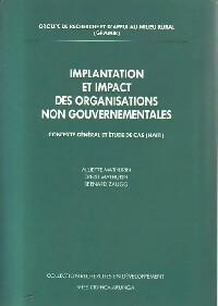 Implantation et impact des organisations non gouvernementales - Collectif