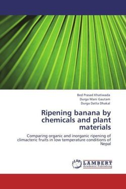 Ripening banana by chemicals and plant materials