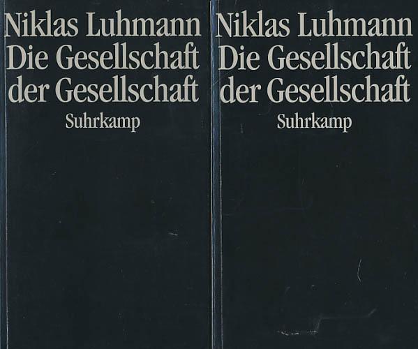Die Gesellschaft der Gesellschaft. 2 Bände (komplett). - Luhmann, Niklas