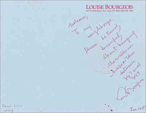The Insomnia Drawings. Selections from the Daros Collection. - Bourgeois, Louise