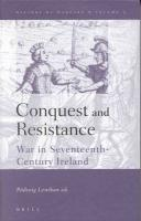 History of Warfare, Conquest and Resistance: War in Seventeenth-Century Ireland