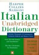 Harper Collins Sansoni Italian Unabridged Dictionary (Third Edition, Revised and Enlarged)