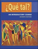 Que Tal?: An Introductory Course Student Edition with Bind-Ique Tal?: An Introductory Course Student Edition with Bind-In Olc Pa