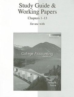 Study Guide & Working Papers for Use with College Accounting Chapters 1-13 - Price, John Ellis Haddock, M. David, Jr. Farina, Michael J.