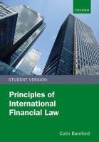 Principles of International Financial Law, Student Version