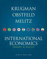 International Economics: Theory & Policy