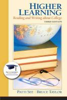 Higher Learning: Reading and Writing about College
