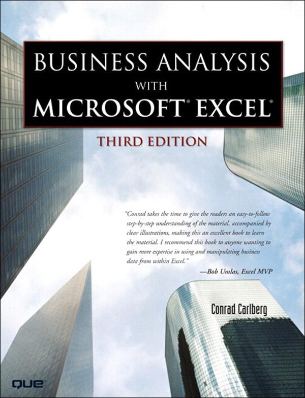 Business Analysis with Microsoft Excel als eBook von Conrad Carlberg - Pearson Technology Group