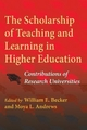 Scholarship of Teaching and Learning in Higher Education - William E. Becker; Moya L. Andrews