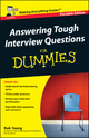 Answering Tough Interview Questions for Dummies - Rob Yeung