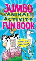Jumbo Animal Activity Fun Book