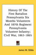 History of the First Battalion Pennsylvania Six Months Volunteers and 187th Regiment Pennsylvania Volunteer Infantry; Civil War, 1863-1865